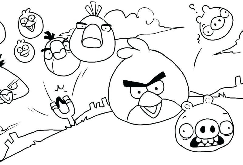 Angry Birds Coloring Pages For Kids Bird Coloring Pages, Kids