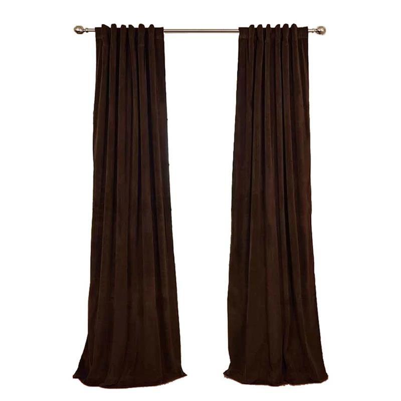 Solid Velvet Blackout Curtain Nordic Minimalist Curtain Living