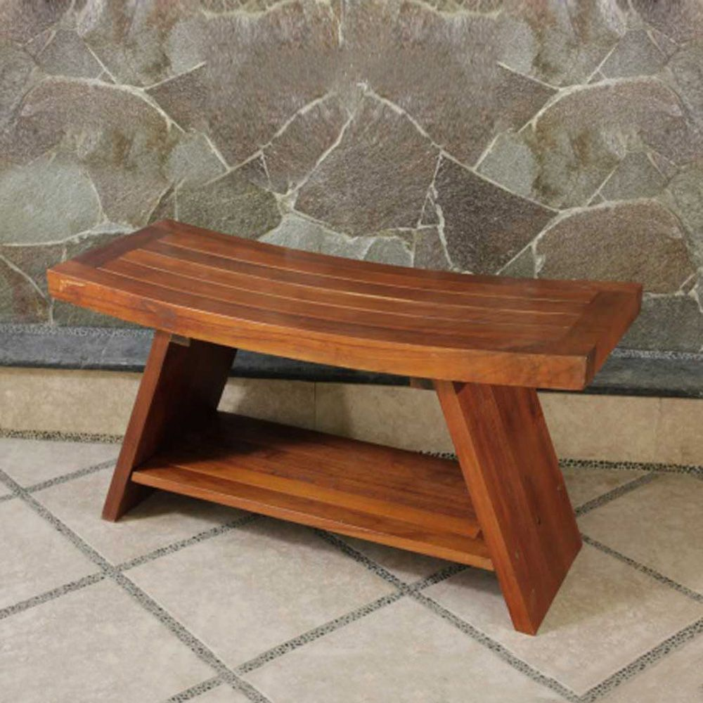 Shop DecoTeak DT10 Asia Teak Serenity Bench with Shelf at ATG Stores ...