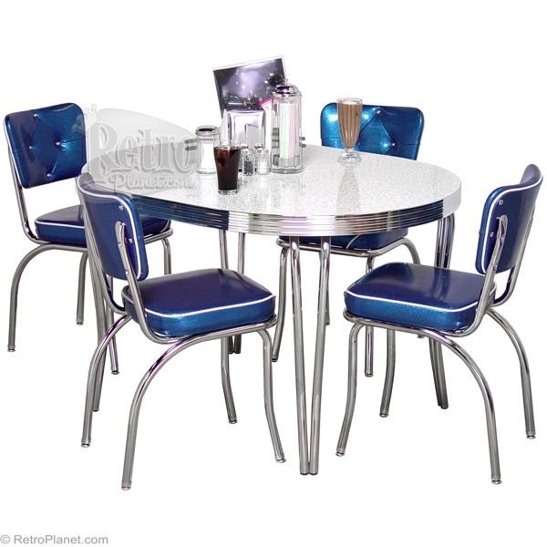 Diner Style Tufted Table Sets Retro Furniture Retroplanet Com