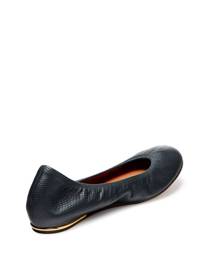 Lizard Embossed Leather Ballet Flat from Final Few: Designer Shoe Sizes 5-6 on Gilt