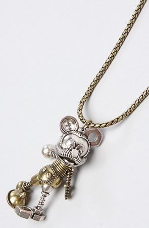 Disney Couture Jewelry The Disney Couture Jewelry X Dr Romanelli Junkyard Mickey Mouse Pendant : Karmaloop.com - Global Concrete Culture STEAMPUNK $90