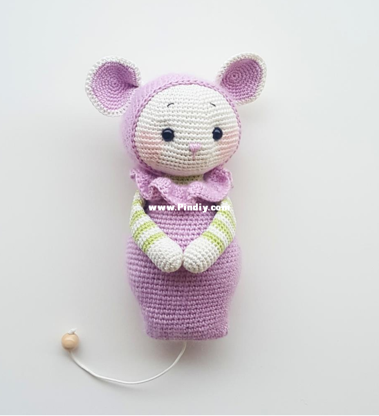 Diseños de Amalou - Marielle Maag - Leni The Little Mouse-Knitting ...