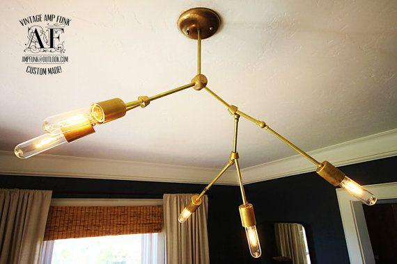 Solid Brass Bulb Chandelier Edison Chandelier Brass Pendant Light Lindsey Adelman Chandelier Restoration Hardware Chandelier Diy Chandelier