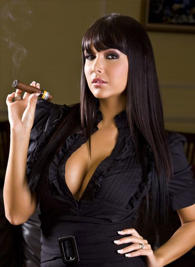 hot girl smoking cigar