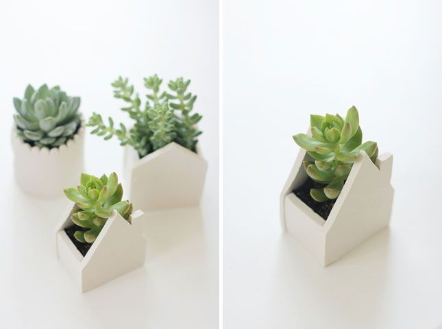 The 35 Most Creative DIY Planters Via Brit + Co. Love The Handmade Clay  Ones.