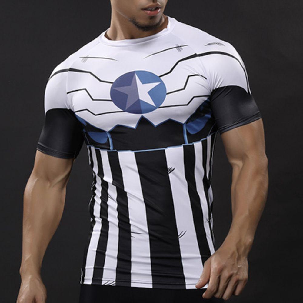 c99b6213 Captain America Quick Dry Compression T-shirt Price: 19.99 & FREE Shipping  #superhero #marvel #dccomics #anime#dragonballz #naruto #love  #cosplay#deadpool ...