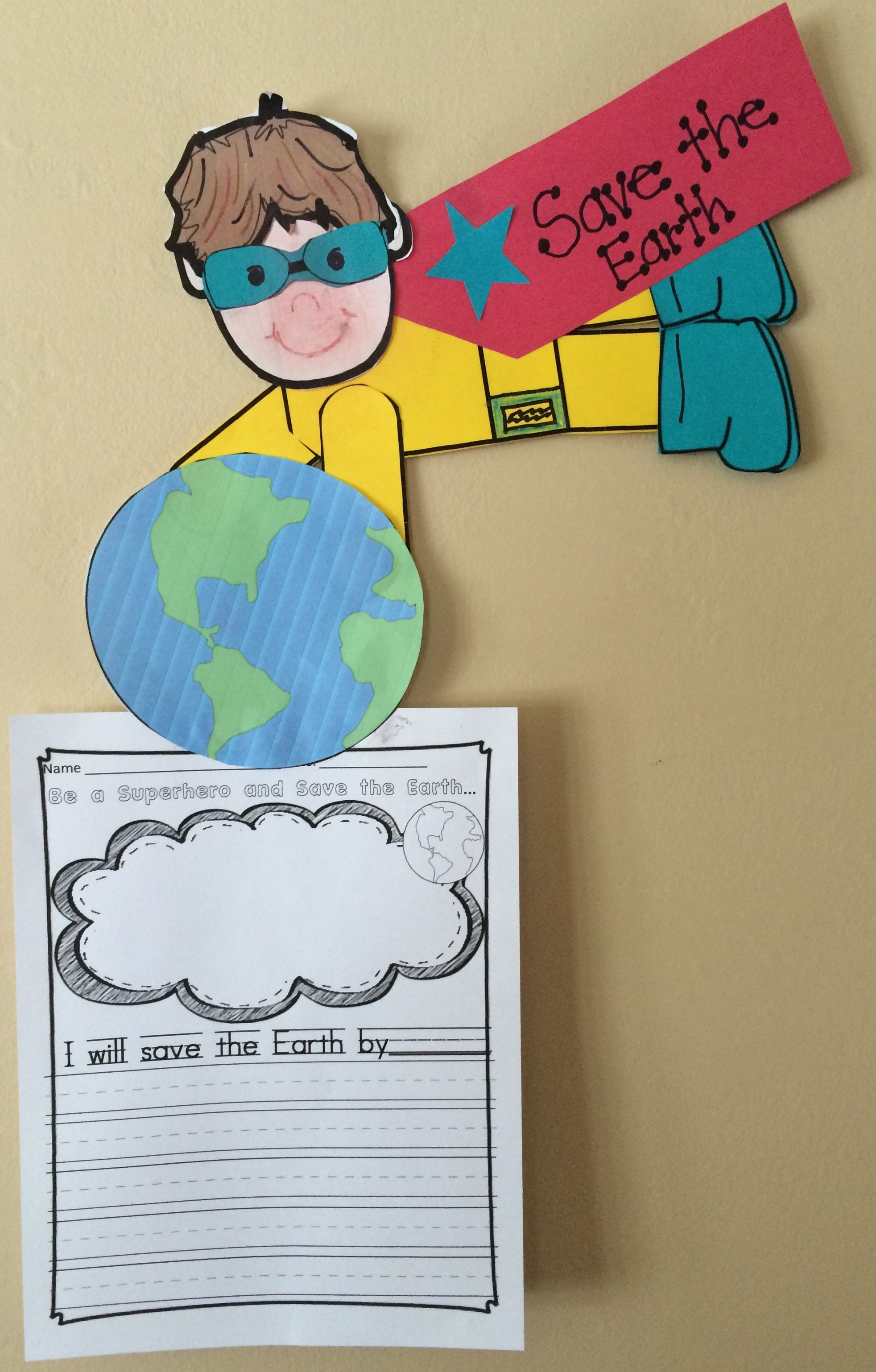 Earth Day Craft And Writing Prompt Be A Superhero Amp Save