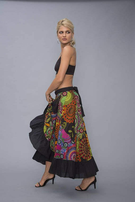 8bbeee28b8 Perfect skirt that will make you stand out in a crowd. Its beautiful,  ethnic and exotic. elastic waistband