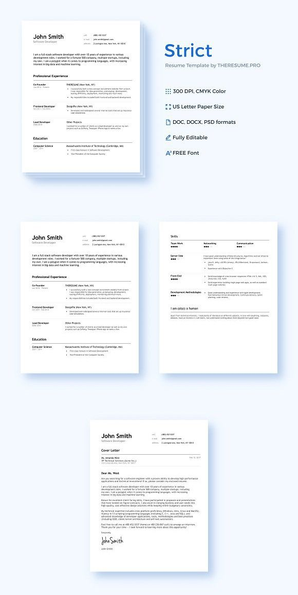 STRICT by THERESUMEPRO Resume Templates Resume Templates - resume templates website