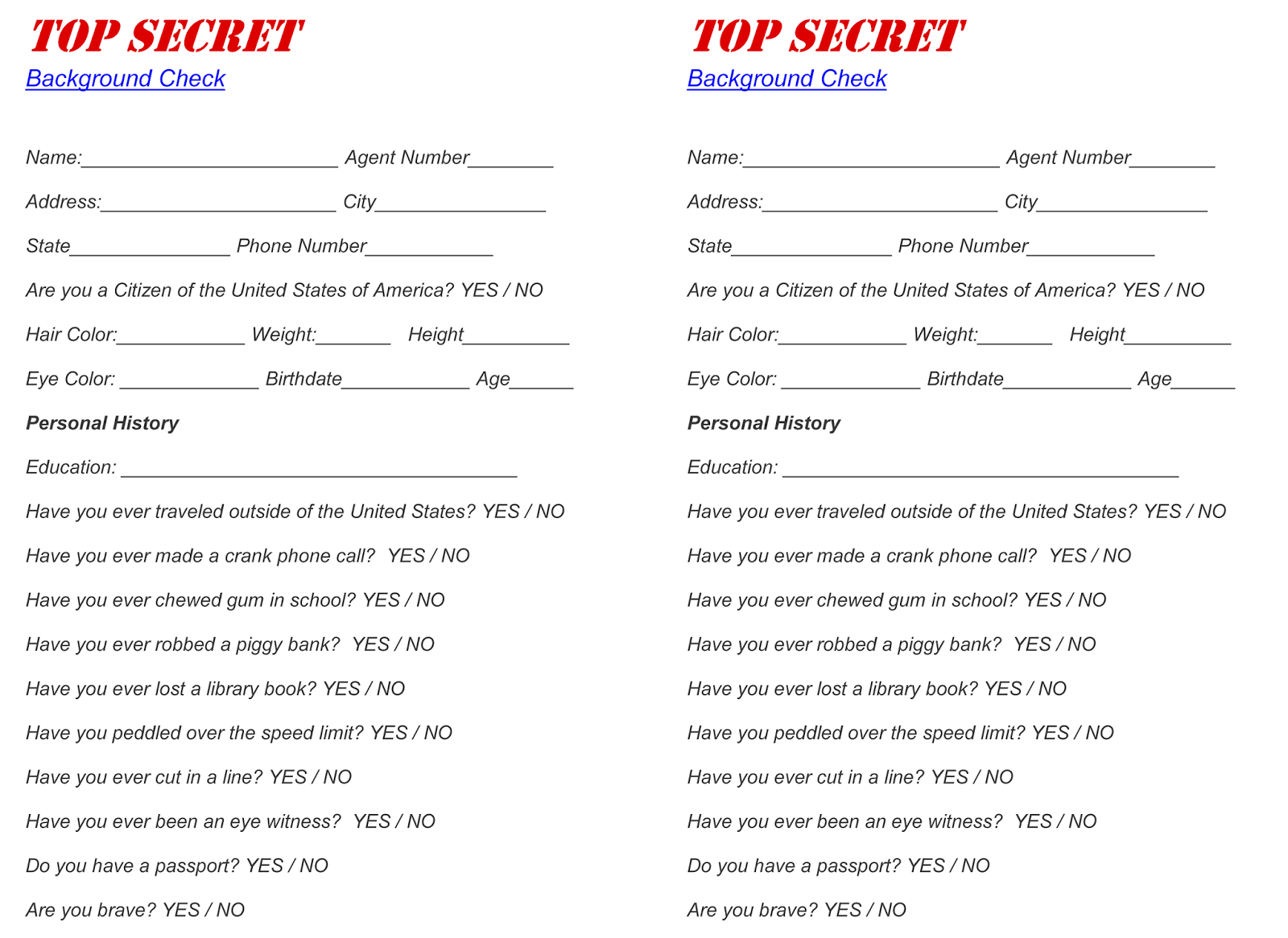 Spy background check for their file   Party - Spy   Pinterest ...