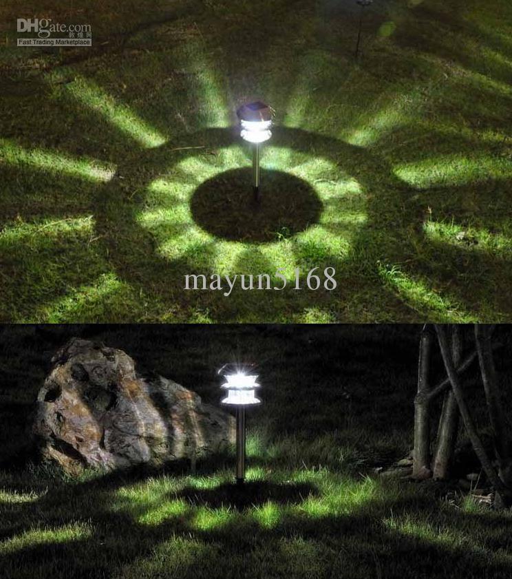 Amazing Solar Light Garden Light LED Lighting\ Solar Tower Lamp 2pcs