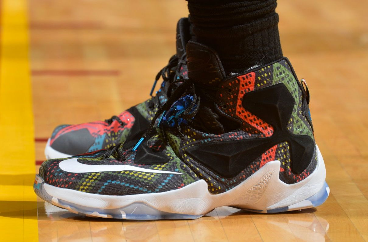 promo code 3aa8c 7ea2e LeBron James Wearing the 'BHM' Nike LeBron 13 (3) | Shoes Şakir ...