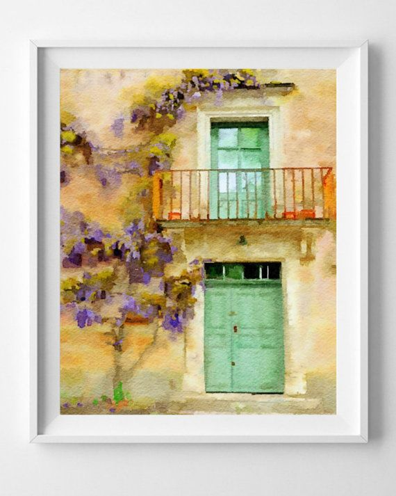 Provence Print,France,Painting,Art Print,Watercolor,Wall Art, Home ...
