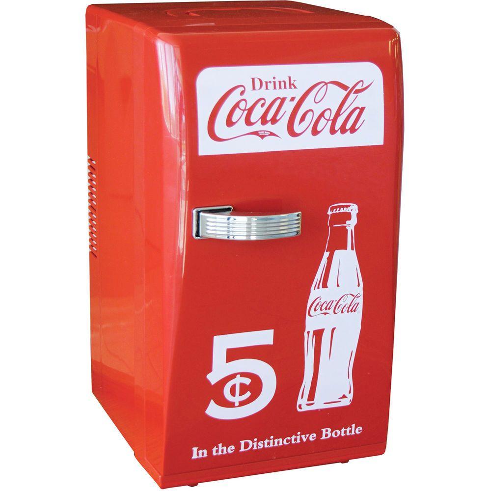 Coca-Cola Retro Mini Refrigerator, Personal Countertop Coke Dorm ...