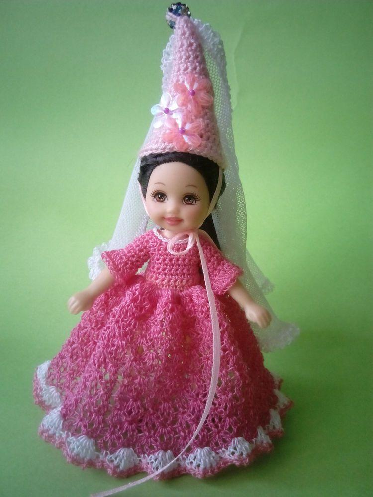 Handmade crochet clothes for Barbie Kelly #Mattel