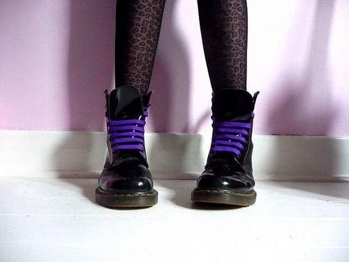purple doc marten laces
