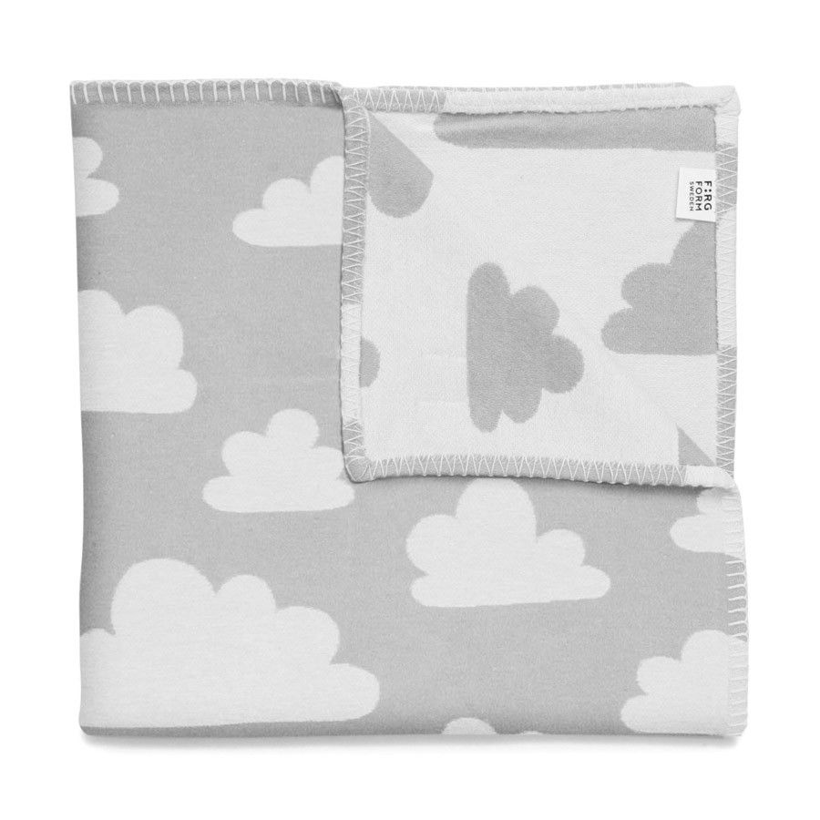 Farg form baby changing table mat grey clouds - The Modern Baby Farg Form Soft Clouds Baby Pram Cot Blanket Grey White