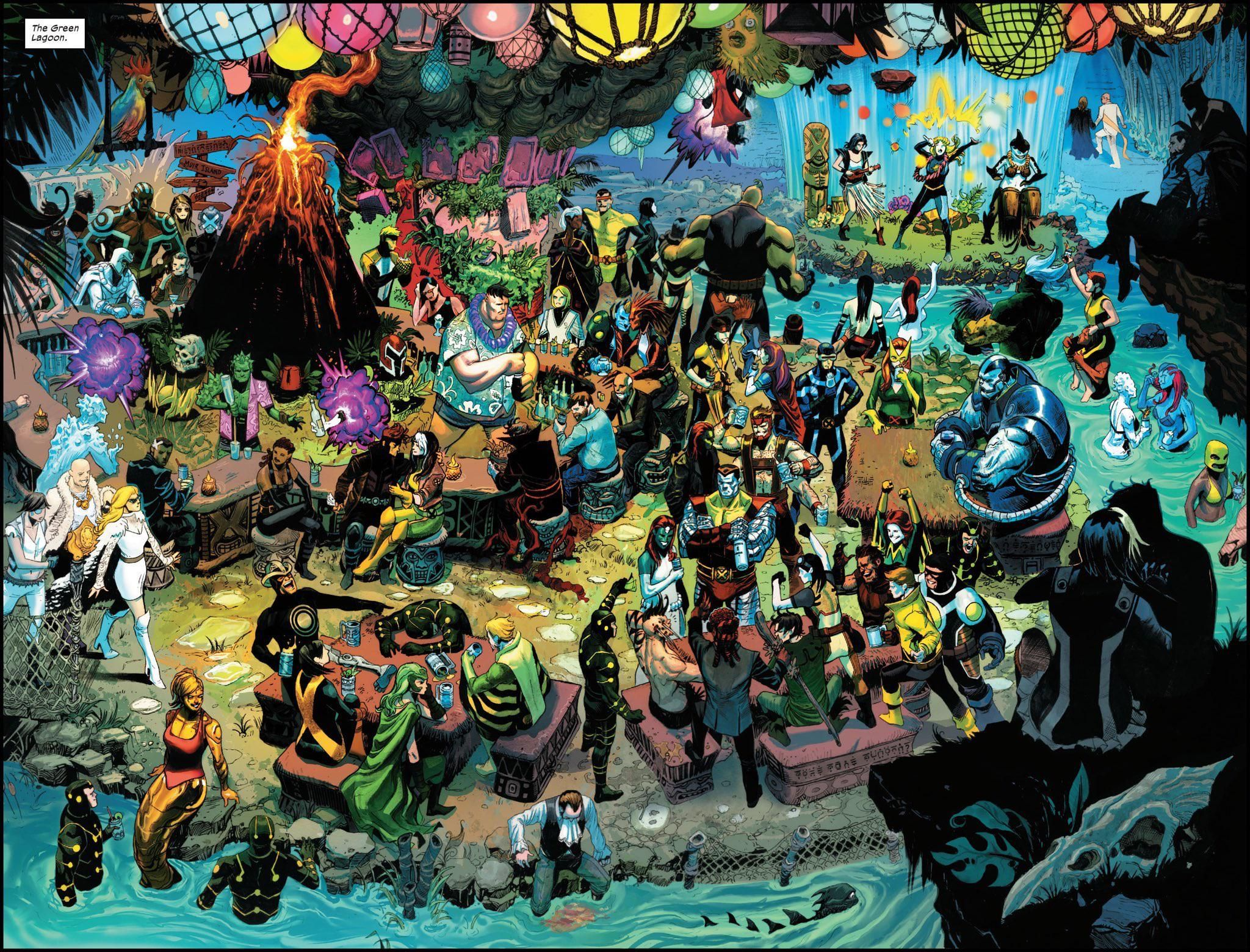 The Green Lagoon By Joshua Cassara From X Force 9 Jack Kirby Art Marvel Comic Universe X Men