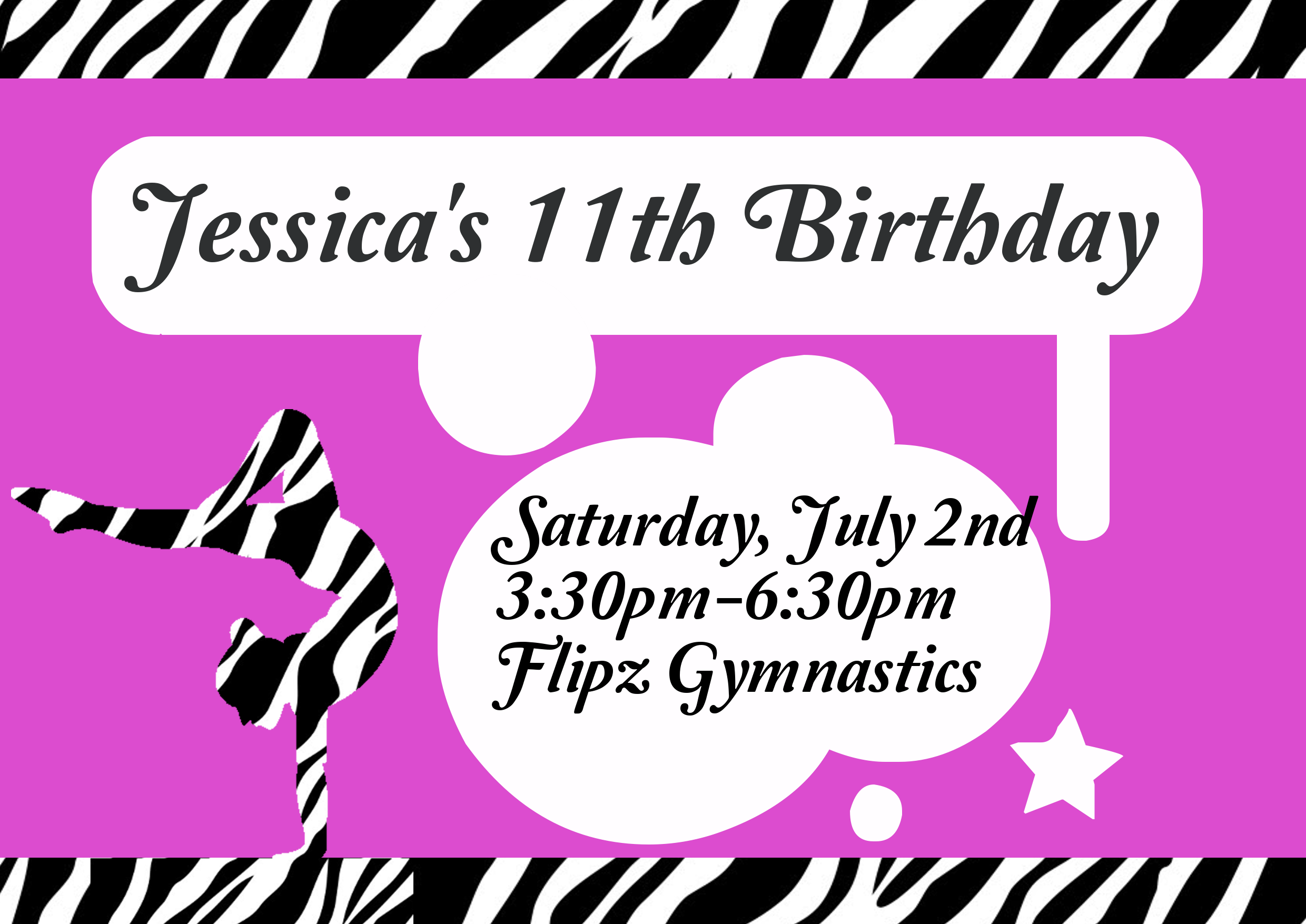 Cute Gymnastics Birthday Party Invite & more at this website ...