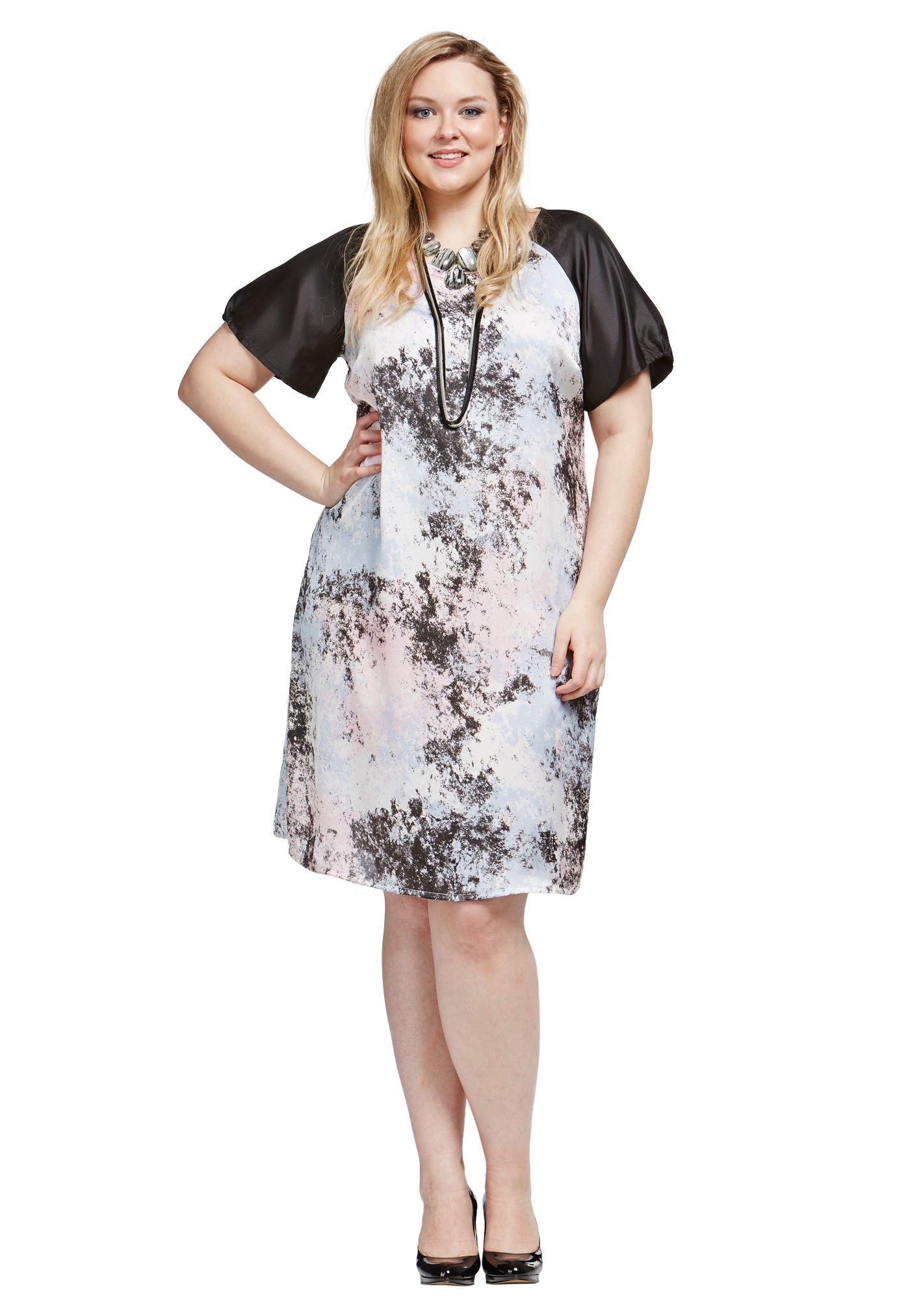 Shadow Print Dress | Tops | Love Your Wardrobe