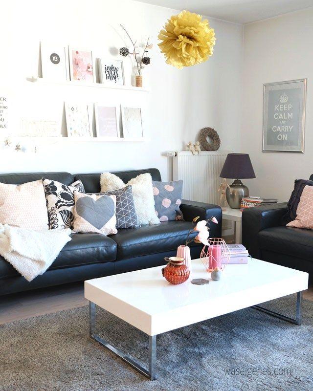 Charmant Wohnzimmer | Rosa Grau Schwarz Weiss Kupfer Living Room: Rosé Grey Black  White Copper |