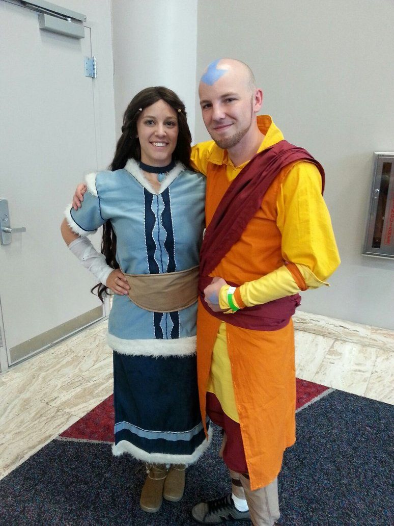 adult aang and katara cosplay old friends by