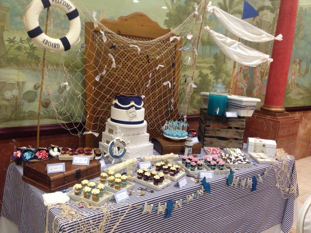 Mesa dulce para comuni n marinera para fiestas pinterest mesas dulces comuni n y dulces - Fiesta marinera decoracion ...