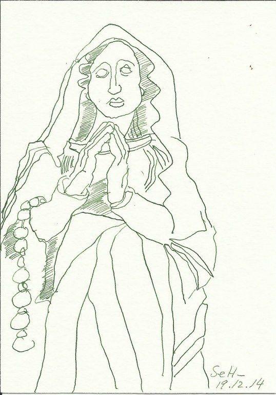 Ich wünsche allen meinen Lesern einen besinnlichen Heiligen Abend! In 2009 schrieb ich über das Blau der Maria (siehe hier). 2010 zitierte ich mit einer Zeichnung von Maria und ihrem Kind Herder. (...