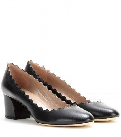 """Pin for Later: Dieser Absatz ist der neue Favorit der Modewelt  Chloé Pumps """"Lauren"""" aus schwarzem Leder (395 €)"""