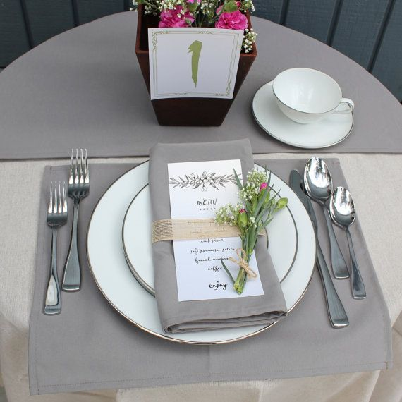 Gray Placemat Silver Gray Placemats For Weddings Hotels Catering Events And Restaurants Grey Placemats Wedding Placemats Fabric Placemats