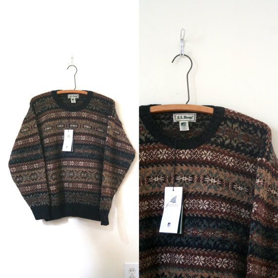 MENS - vintage sweater / crewneck LL BEAN scottish fair by ...