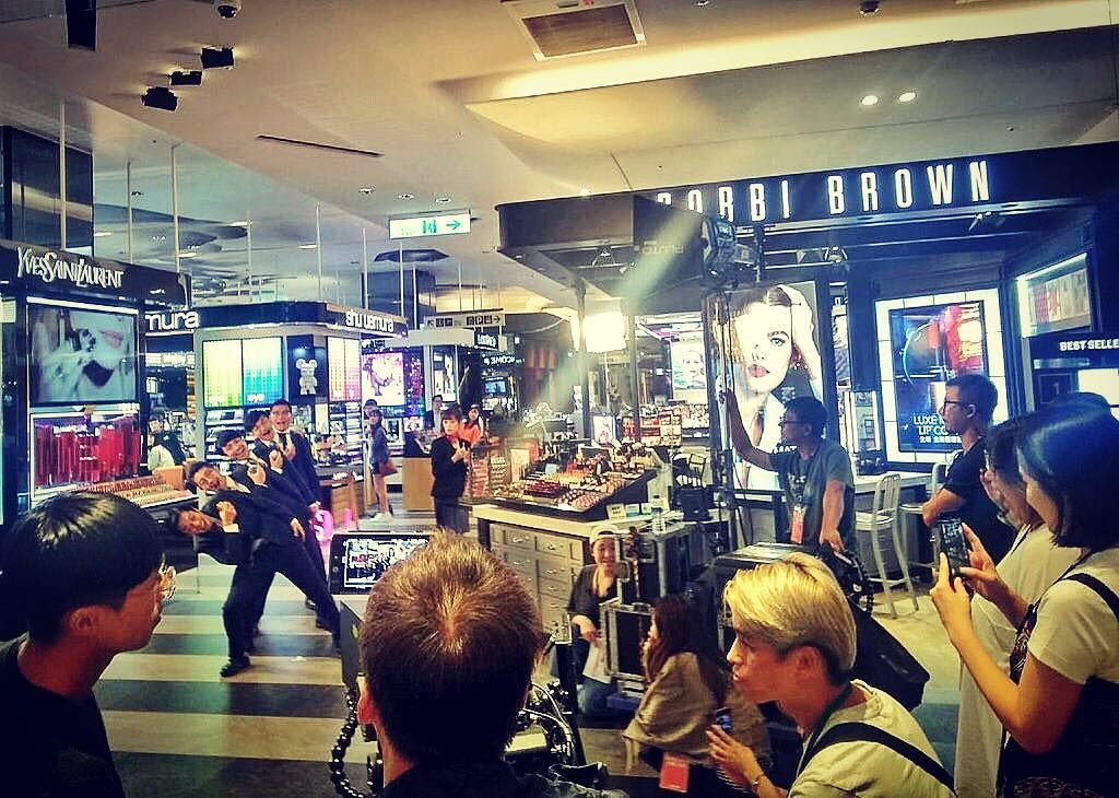 world order was shooting a tv commercial in taiwan on air next
