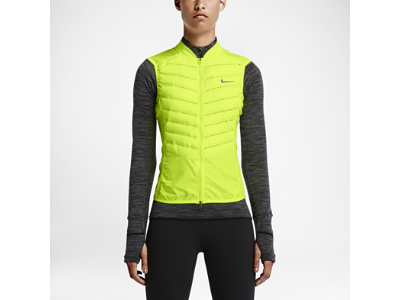 5683e4b490f22 Nike Aeroloft 800 Women's Running Vest with seamless bonded quilting ...