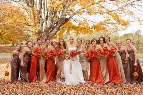 The Autumn Brides Color Choices Are As Exciting Season Itself Fall