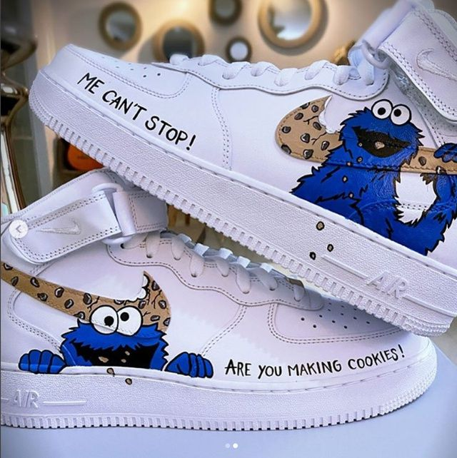 AF1 Nike Cookie Monster WHITE   THE