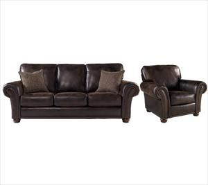 Nebraska Furniture Mart Lane Espresso Faux Leather Sofa