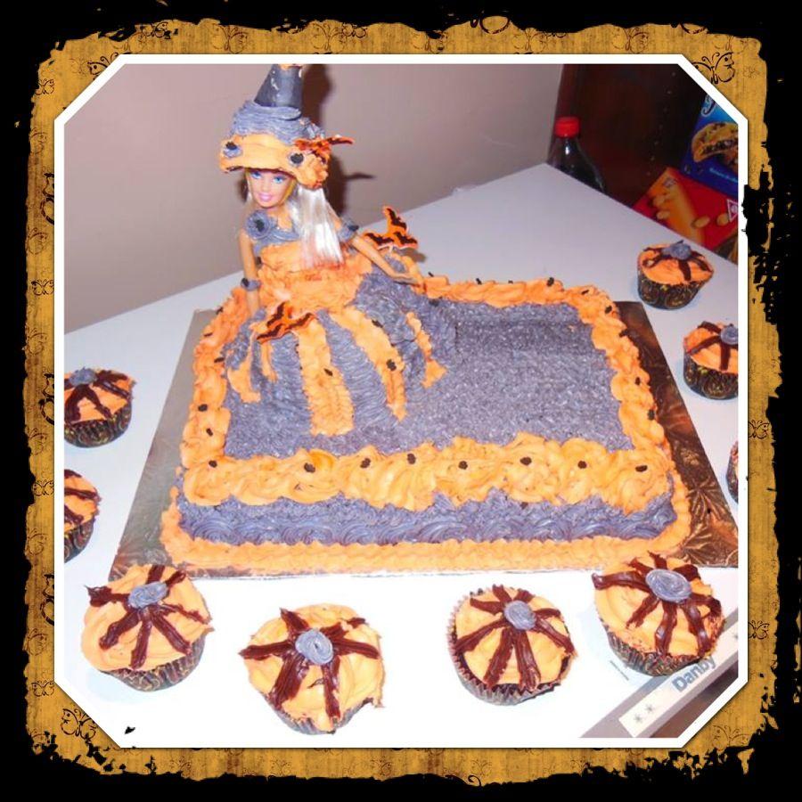 barbie halloween cake