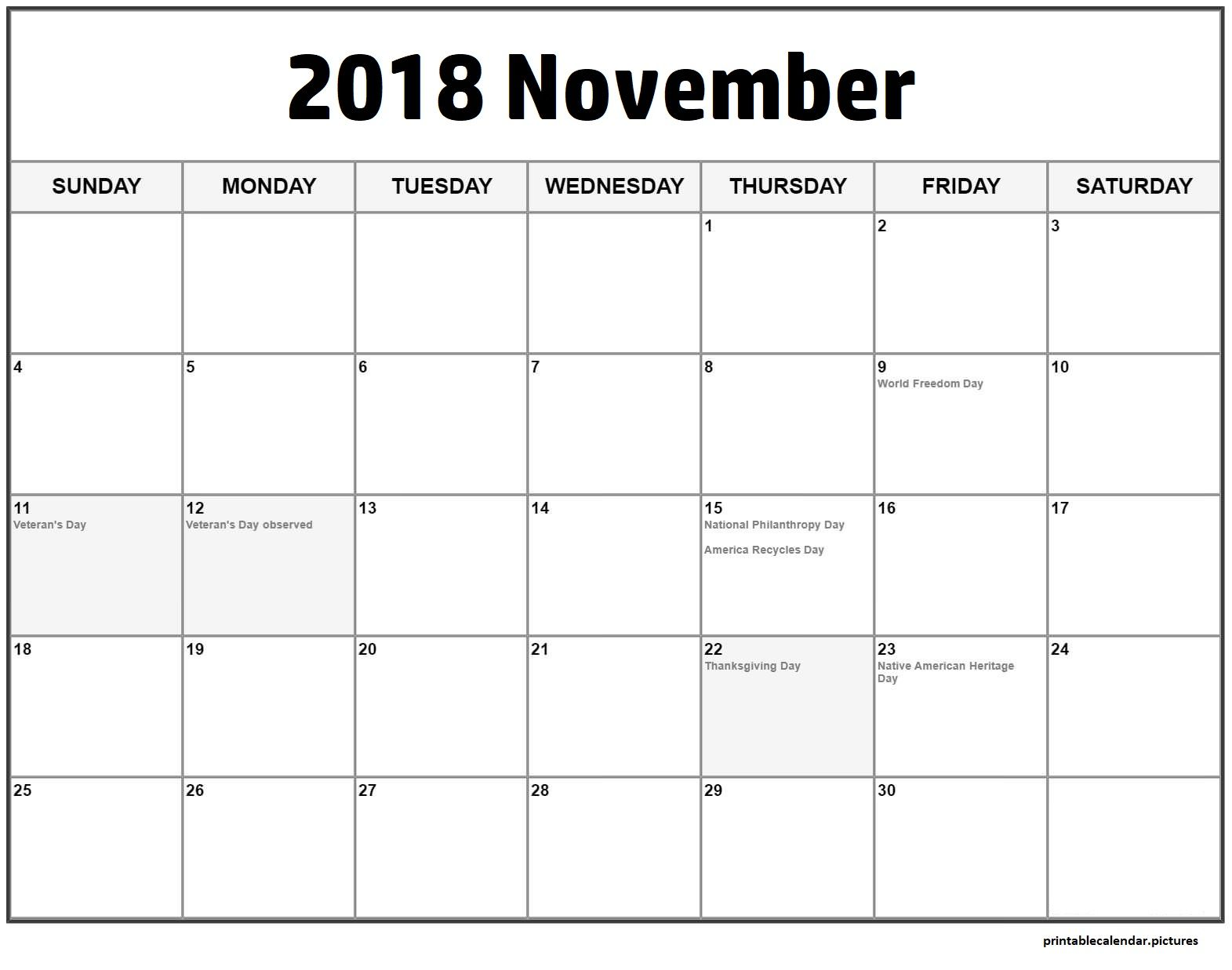 november 2018 calendar with holidays november calendar calendar 2018 holiday list bank holiday
