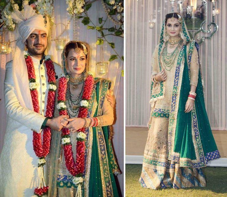 Top 10 Famous Indian Celebrity Wedding Dresses Trends Wedding Dress Trends Celebrity Wedding Dresses Indian Celebrities