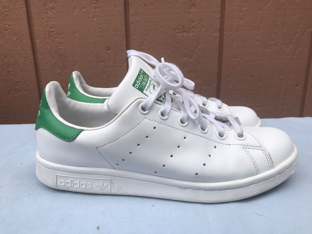 code promo 78b7b d3cae EUC ADIDAS YOUTH UNISEX ORIGINALS STAN SMITH WHITE GREEN US ...