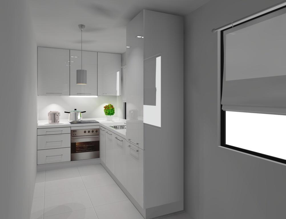 Dluga Waska Otwarta Kuchnia Szukaj W Google Lighted Bathroom Mirror Bathroom Mirror Home Decor
