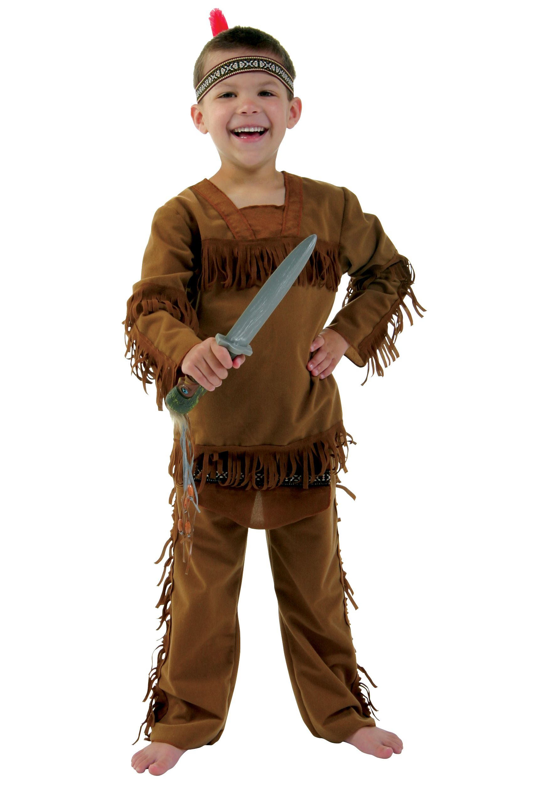 Brand New Native American Little Indian Warrior Toddler Costume