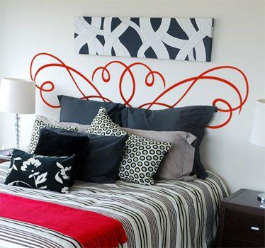 Vinilo decorativo para habitaciones consigue un cabezal - Vinilos cabezal cama ...