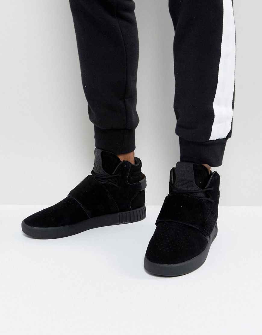 adidas Originals Tubular Invader Strap Sneakers In Black BY3632 - Blac 203a99105