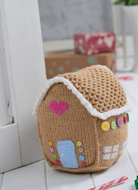 Free Christmas gingerbread house knitting patter n.    Find free Christmas crochet patterns here!