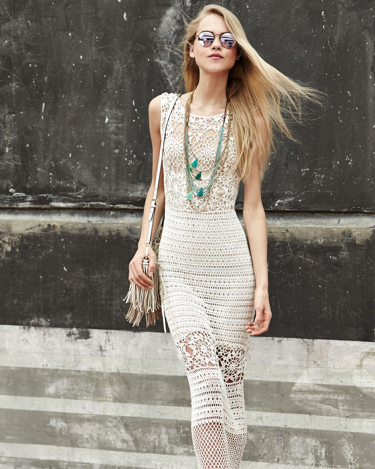 Crazy About This Alice Olivia Amari Crochet Long Dress