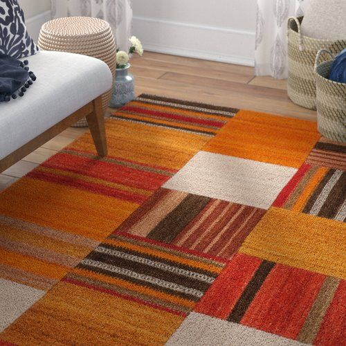 Radical 210 Handwoven Wool Cotton Terracotta Rug Kayoom In
