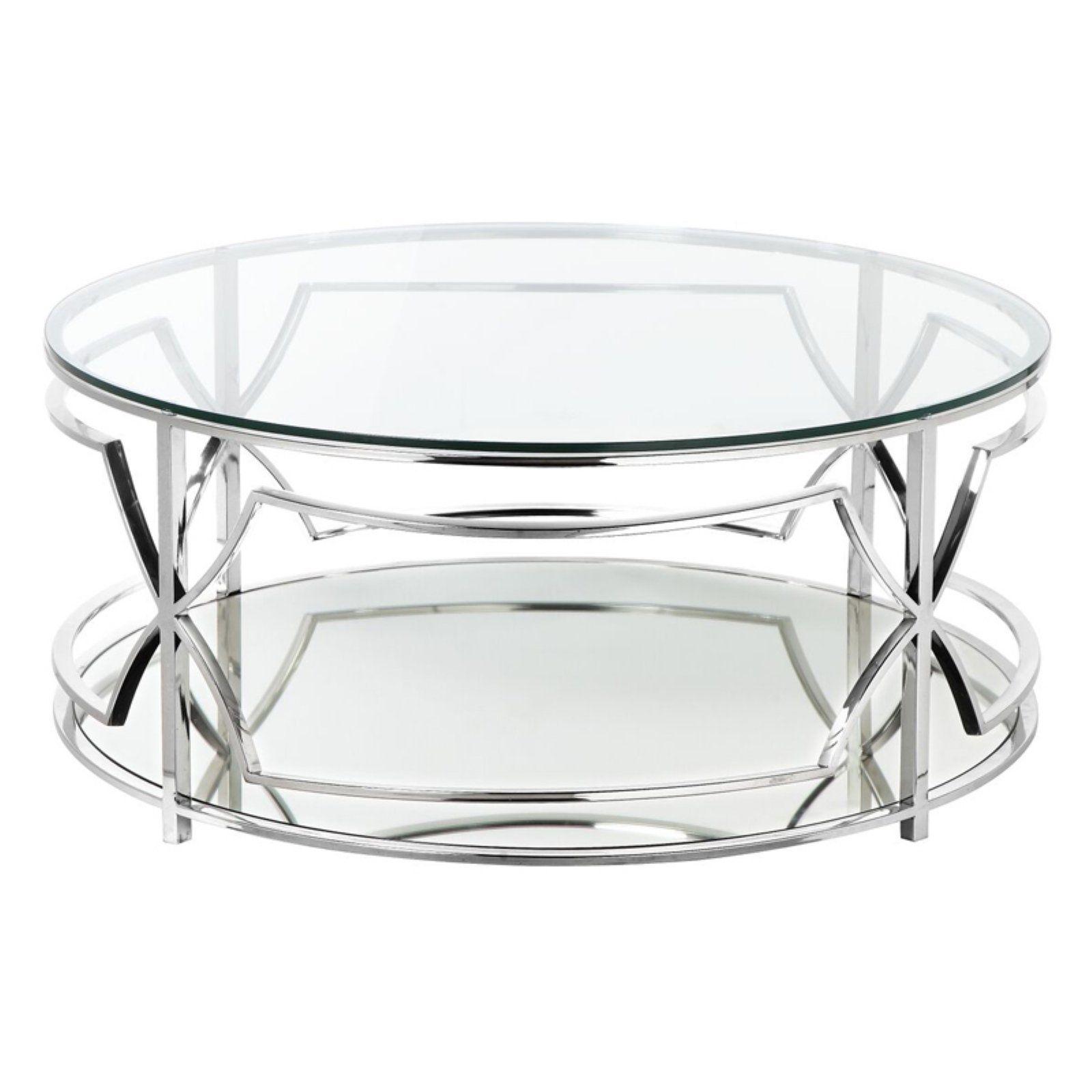 Pangea Home Edward Round Coffee Table Walmart Com Round Coffee Table Coffee Table Round Glass Coffee Table [ 1600 x 1600 Pixel ]