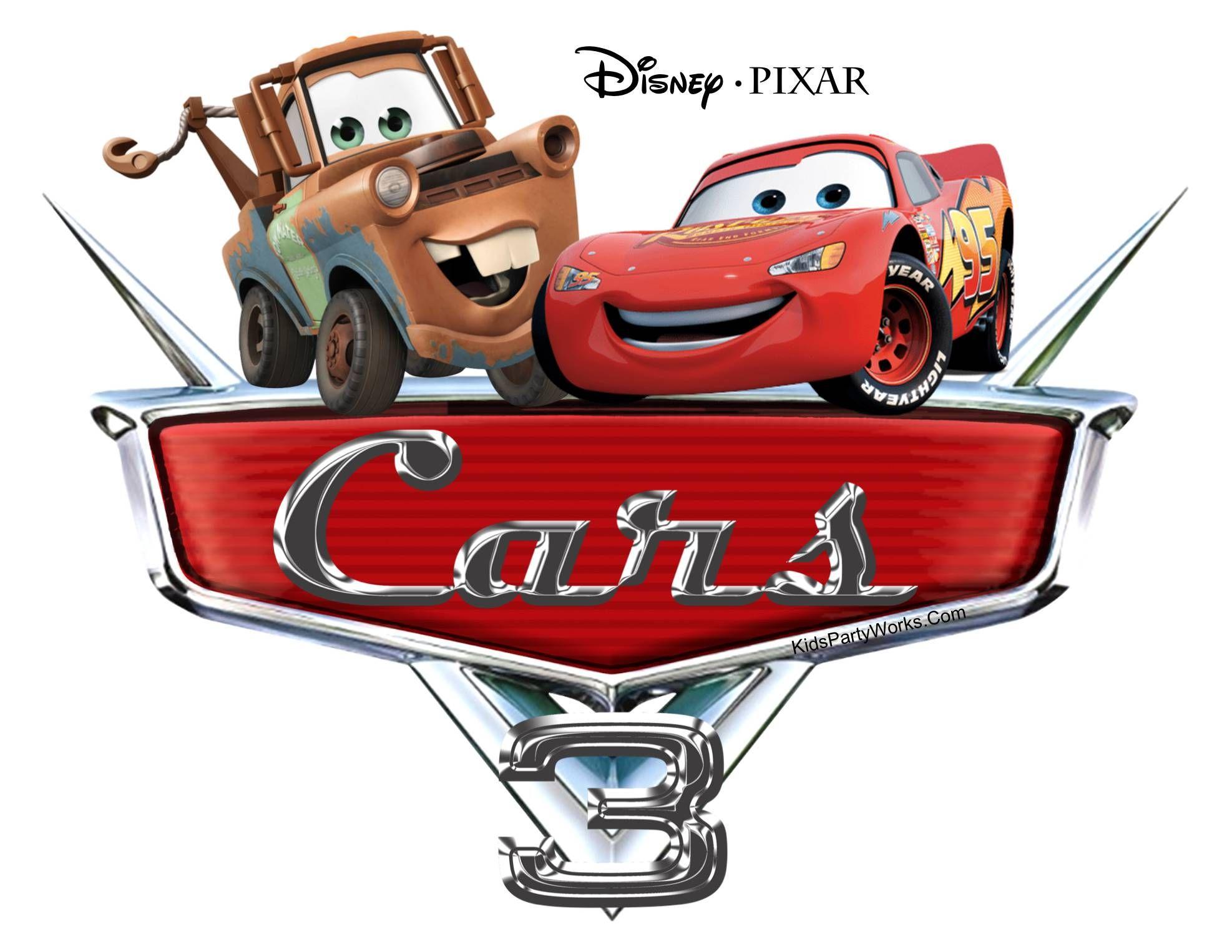 Disney Cars Font Carros da disney, Festa temática de